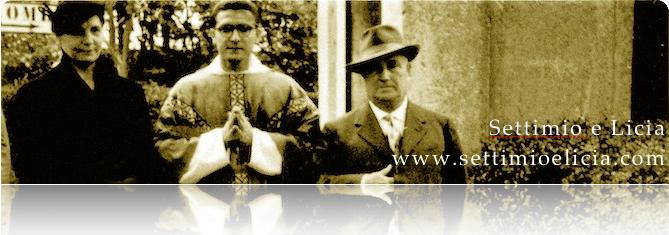 Foto dei servi di Dio con il figlio P. Stefano (1955)